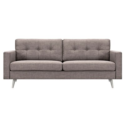 Shanna Sofa Upholstery: Aluminium Gray, Finish: Brass