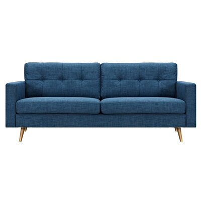 Shanna Sofa Upholstery: Stone Blue, Finish: Silver