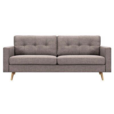 Shanna Sofa Upholstery: Aluminium Gray, Finish: Silver