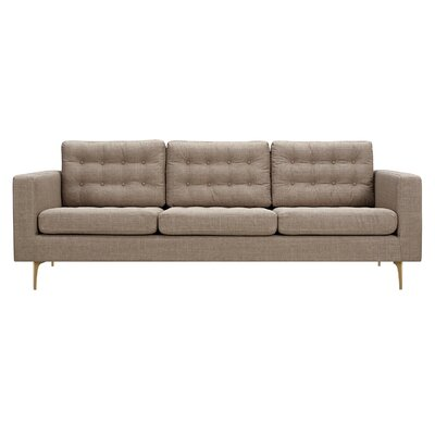 Hilary Sofa Upholstery: Light Sand, Finish: Brass