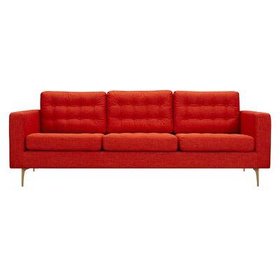 Hilary 3 Piece Living Room Set Upholstery: Retro Orange, Color: Black