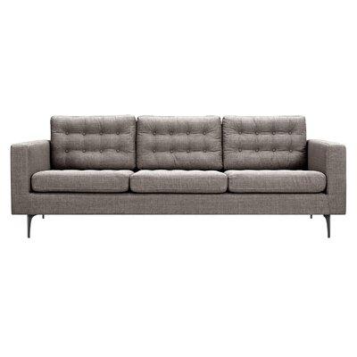 Hilary Sofa Upholstery: Aluminium Gray, Finish: Black