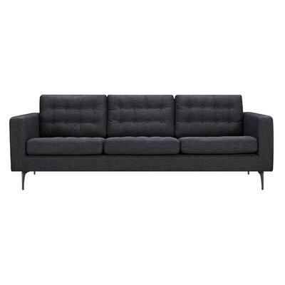 Hilary Sofa Upholstery: Charcoal Gray, Finish: Black