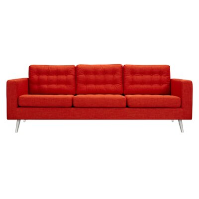 Fuhr 3 Piece Living Room Set Upholstery: Retro Orange, Color: Silver