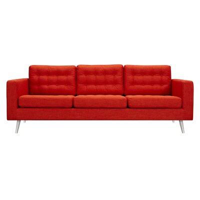 Beth Sofa Upholstery: Retro Orange, Finish: Silver