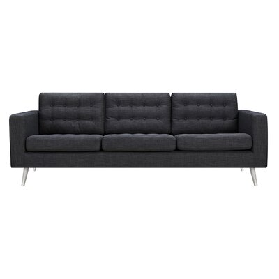 Beth Sofa Upholstery: Charcoal Gray, Finish: Silver