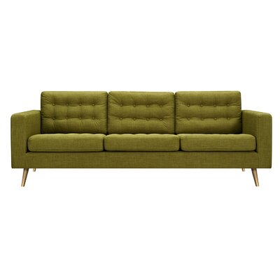 Beth Sofa Upholstery: Avocado Green, Finish: Brass