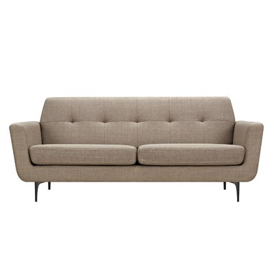 Trisha Sofa Upholstery: Light Sand, Finish: Black