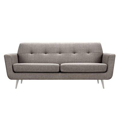 Toni Sofa Upholstery: Aluminium Gray, Finish: Silver