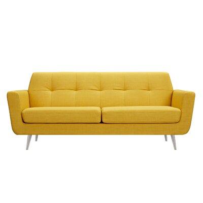 Toni Sofa Upholstery: Papaya Yellow, Finish: Silver