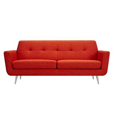 Toni Sofa Upholstery: Retro Orange, Finish: Silver