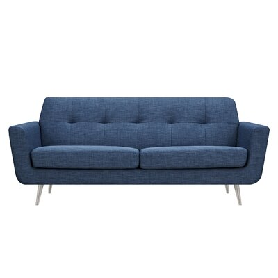 Toni Sofa Upholstery: Stone Blue, Finish: Silver