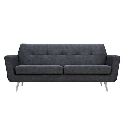 Toni Sofa Upholstery: Charcoal Gray, Finish: Silver