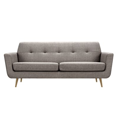 Toni Sofa Upholstery: Aluminium Gray, Finish: Brass