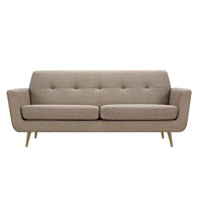 Toni Sofa Upholstery: Light Sand, Finish: Brass