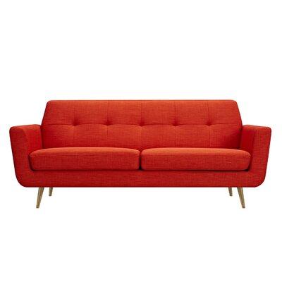 Toni Sofa Upholstery: Retro Orange, Finish: Brass