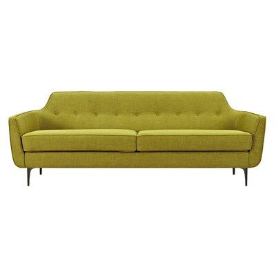 Joy Sofa Upholstery: Avocado Green, Finish: Black