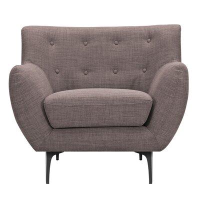 Mindy Armchair Upholstery: Aluminium Gray, Finish: Black