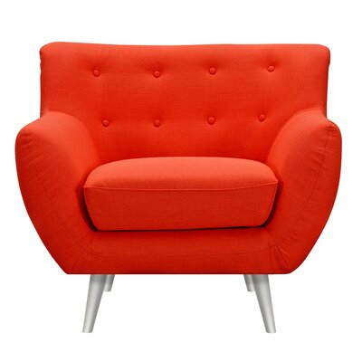 Suzanne Armchair Upholstery: Retro Orange, Finish: Silver