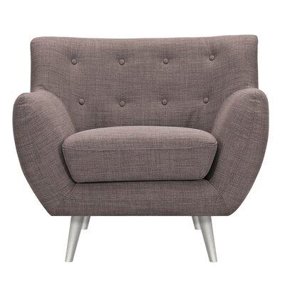 Suzanne Armchair Upholstery: Aluminium Gray, Finish: Silver