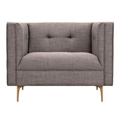 Jodi Armchair Upholstery: Aluminium Gray, Finish: Brass