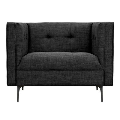Jodi Armchair Upholstery: Charcoal Gray, Finish: Black