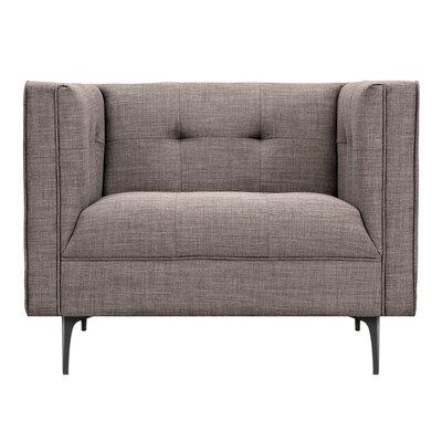 Jodi Armchair Upholstery: Aluminium Gray, Finish: Black