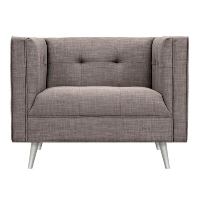 Christie Armchair Upholstery: Aluminium Gray, Finish: Silver