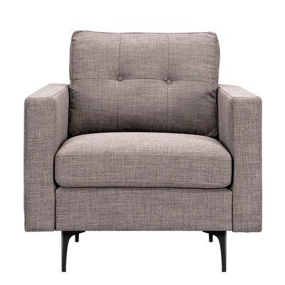 Kellie Armchair Upholstery: Aluminium Gray, Finish: Black