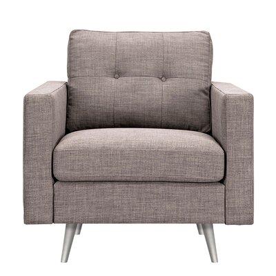Shanna Armchair Upholstery: Aluminium Gray, Finish: Silver