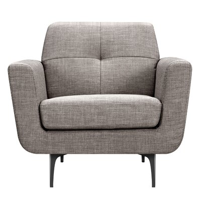Trisha Armchair Upholstery: Aluminium Gray, Finish: Black