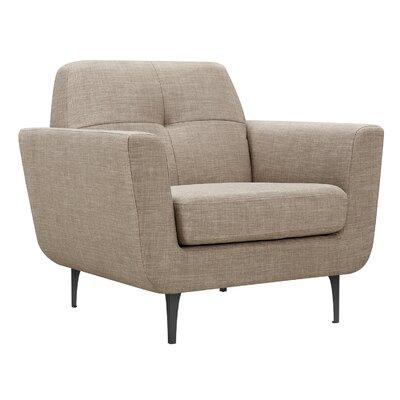 Trisha Armchair Upholstery: Light Sand, Finish: Black