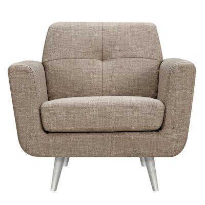 Toni Armchair Upholstery: Light Sand, Finish: Silver