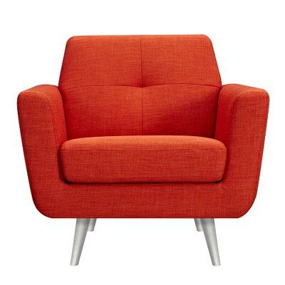 Toni Armchair Upholstery: Retro Orange, Finish: Silver