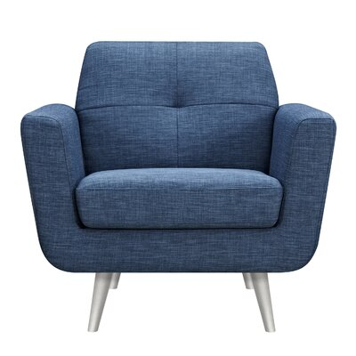 Toni Armchair Upholstery: Stone Blue, Finish: Silver