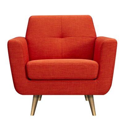 Toni Armchair Upholstery: Retro Orange, Finish: Brass