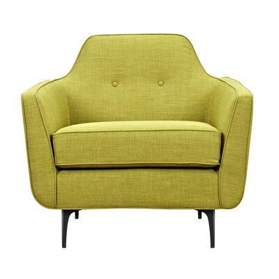 Joy Armchair Upholstery: Avocado Green, Finish: Black