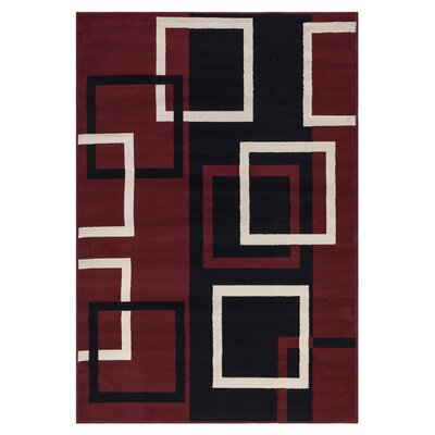 Clifton Dark Red 3 Piece Area Rug Set