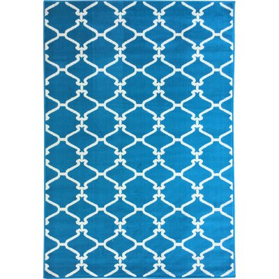 Clifton Blue Area Rug Rug Size: 5 x 7