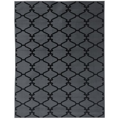 Clifton Dark Gray Area Rug Rug Size: 5 x 7