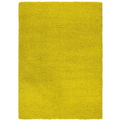 Cozy Yellowish Green Area Rug Rug Size: 5 x 7