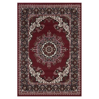 Clifton Red Area Rug Rug Size: 710 x 910