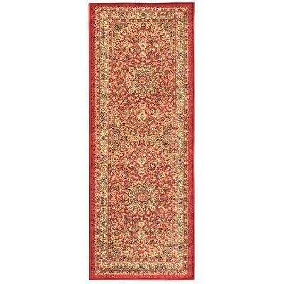 Sweet Home Medallion Red Area Rug Rug Size: Runner 23 x 6