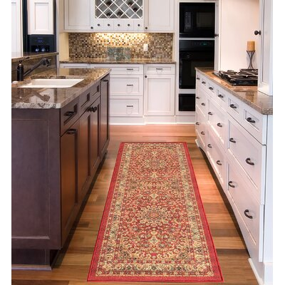 Sweet Home Medallion Red Area Rug Rug Size: Runner 18 x 411