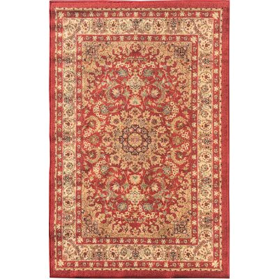 Sweet Home Medallion Red Area Rug Rug Size: 5 x 66
