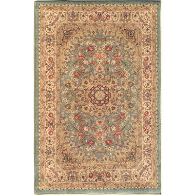 Sweet Home Medallion Ocean Green Area Rug Rug Size: 5 x 66
