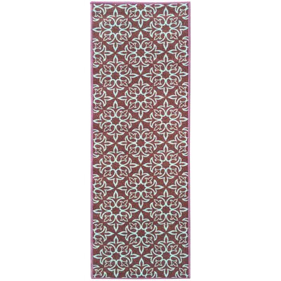 Sweet Home Damask Brown Area Rug Rug Size: Rectangle 33 x 411