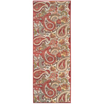 Sweet Home Paisley Cream Area Rug Rug Size: 33 x 411