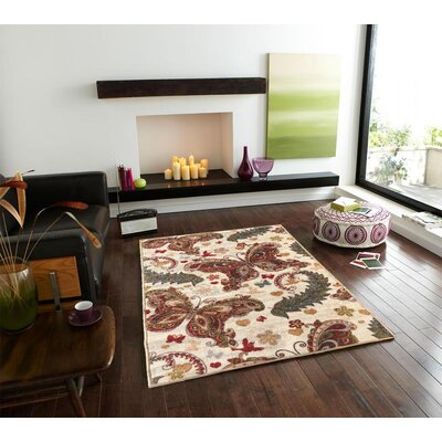 Sweet Home Butterfly Cream Area Rug Rug Size: 33 x 411