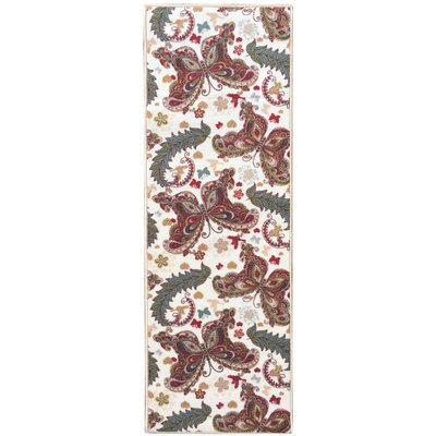 Sweet Home Butterfly Cream Area Rug Rug Size: Rectangle 33 x 411